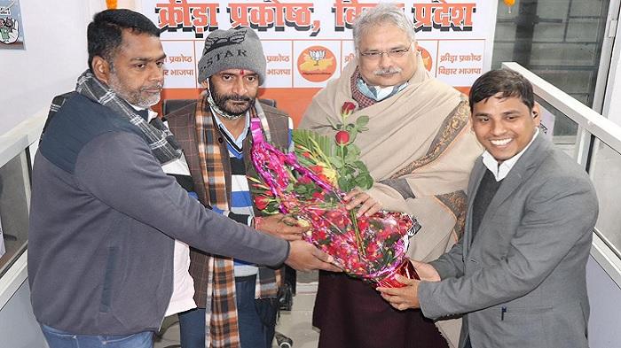 भाजपा क्रीड़ा प्रकोष्ठ बिहार प्रदेश कार्यालय का किया गया उद्घाटन