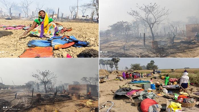 भागलपुर के इस गांव में लगी भीषण आग, चार सौ घर जले, सब कुछ हो गया बर्बाद